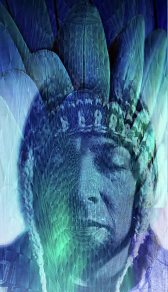 Shaman Digital Art - L . I . N . E . A . G . E by J  - O   N    E