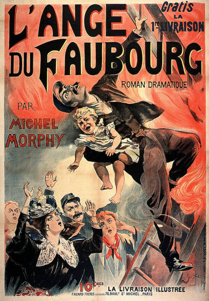 Painting - L Ange Du Faubourg  by Vintage French Advertising