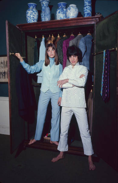 Mod Photograph - L-r Actress Jane Birkin And Pop-singer by Bill Ray