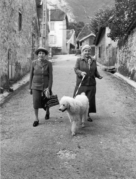 Poodle Photograph - L-r Alice B. Toklas And Companion by Carl Mydans