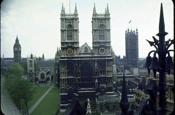 Victoria Tower Wall Art - Photograph - L-r Big Ben Clock Tower, Houses Of by Eliot Elisofon
