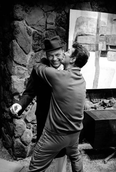 Photograph - L-r Entertainer Frank Sinatra Getting by John Dominis