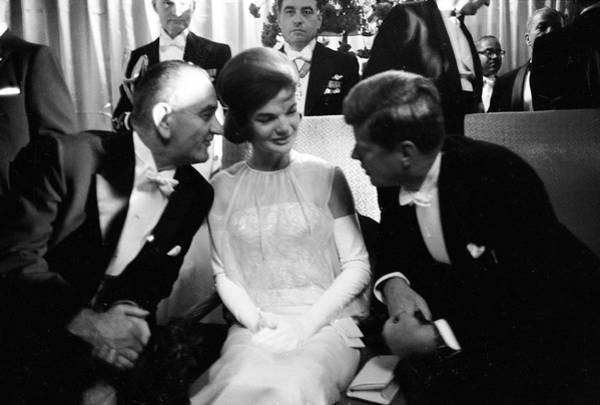 Us President Photograph - L-r Vp Lyndon B. Johnson, First Lady by Paul Schutzer