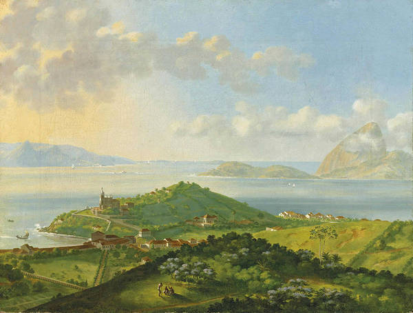 Painting - La Barre De Rio De Janeiro by Felix-Emile Taunay