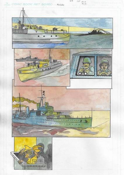 Manchester Drawing - Malta Convoy Craphic Novel Page 4 by Ray Agius