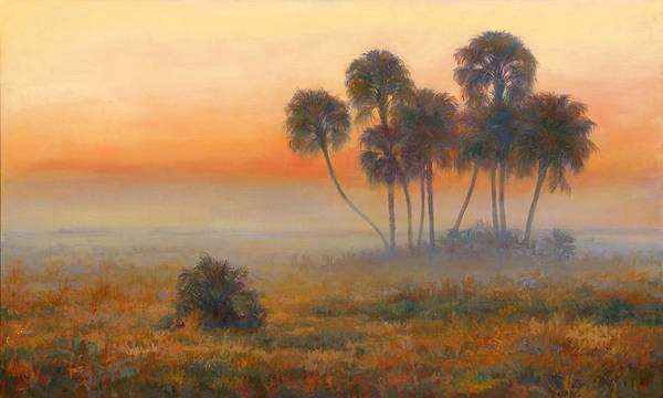 Lake Okeechobee Wall Art - Painting - La Belle Sunrise by Laurie Snow Hein