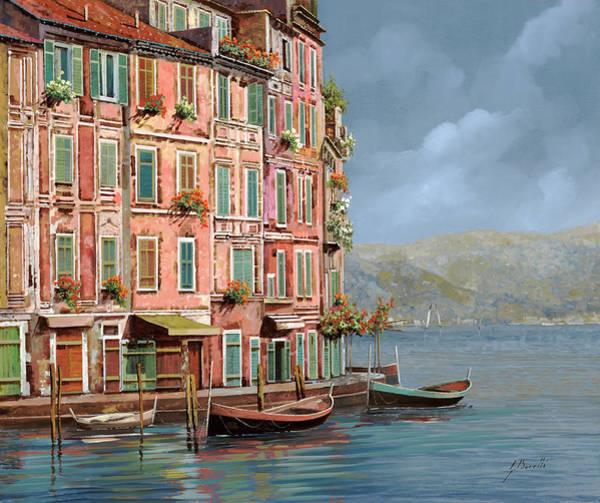 Wall Art - Painting - la calata a Portofino by Guido Borelli