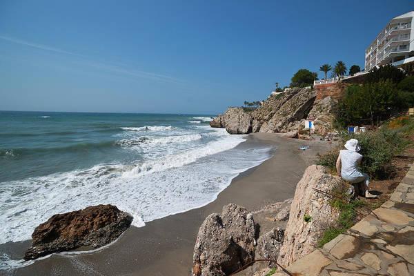 Sun Hat Photograph - La Caletilla Beach by Dennis Barnes