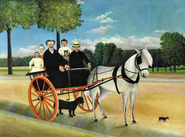 Wall Art - Painting - La Carriole Du Pere Junier - Digital Remastered Edition by Henri Rousseau