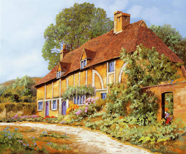 England Painting - La Cascina Gialla by Guido Borelli