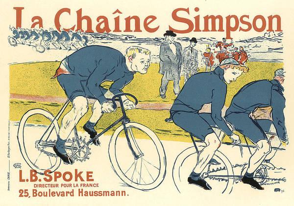Painting - La Chaine Simpson Bicycle Vintage French Advertising by Vintage French Advertising