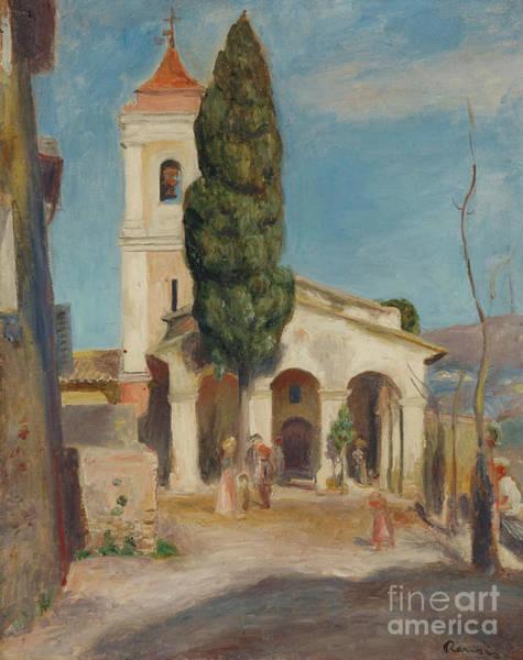 Wall Art - Painting - La Chapelle Notre-dame De Protection Au Haut-de-cagnes, 1905 by Pierre Auguste Renoir