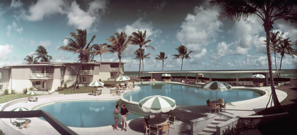 Palm Beach Photograph - La Coquille Club by Slim Aarons