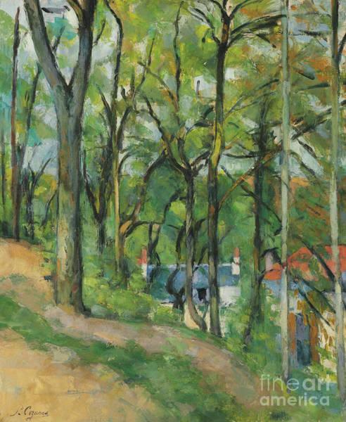 Wall Art - Painting - La Cote Saint Denis A Pontoise, Circa 1877 by Paul Cezanne