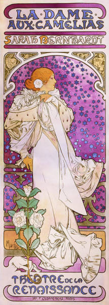 Alfons Mucha Painting - La Dame Aux Camelias - Digital Remastered Edition by Alfons Maria Mucha