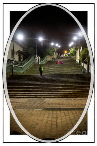 Calle Wall Art - Photograph - La Escalinata Staircase, Cuenca, Ecuador by Al Bourassa