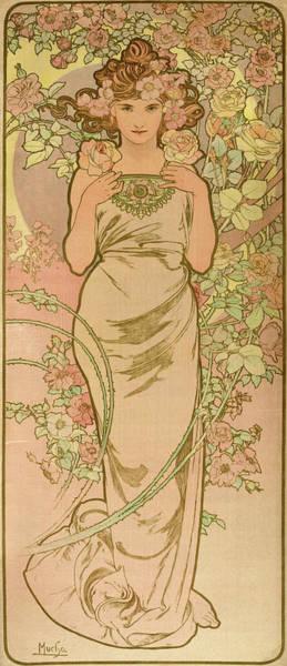 Wall Art - Painting - La Femme Animee En Fleur, 1898 by Alphonse Mucha