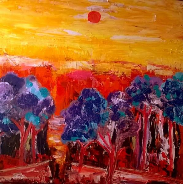 Painting - La Foret Rouge by Rusty Gladdish