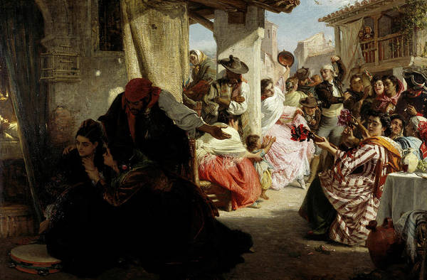 Wall Art - Painting - La Gloria - A Spanish Wake, 1864 by John Phillip