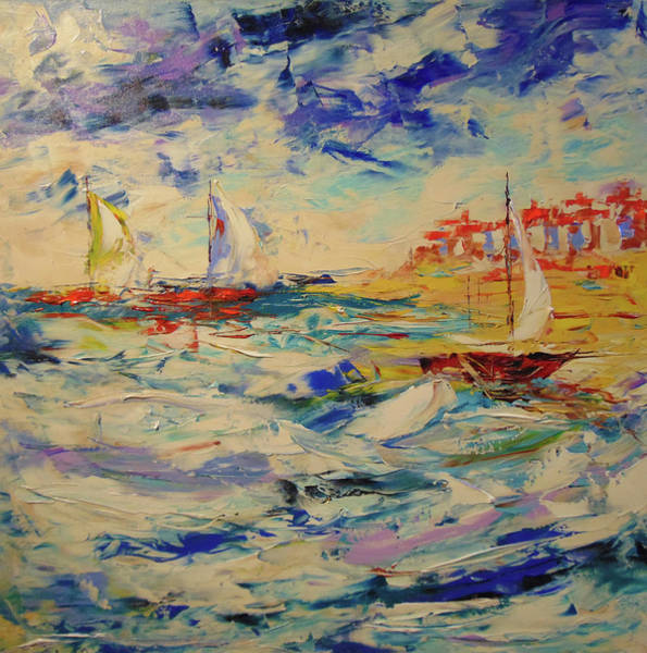 Painting - La Houle by Frederic Payet