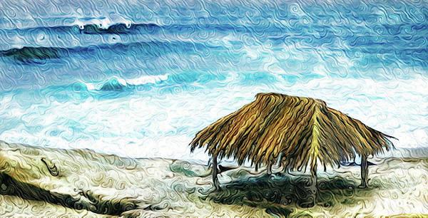 Digital Art - La Jolla Surf Hut by Scott Campbell