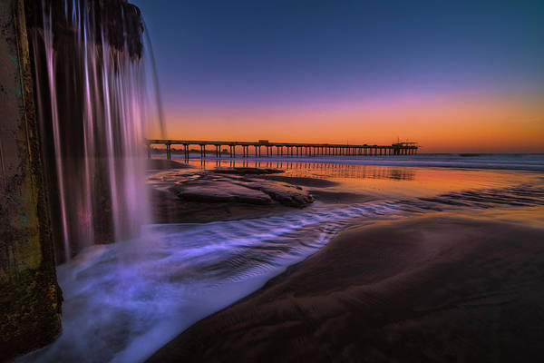 Photograph - La Jolla Waterfall by Jonathan Hansen