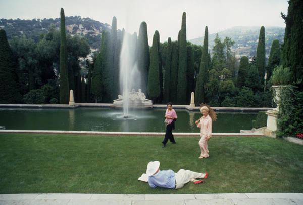 Reclining Photograph - La Leopolda by Slim Aarons