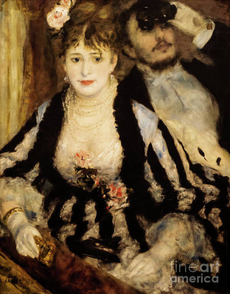 Painting - The Theatre Box by Auguste Renoir
