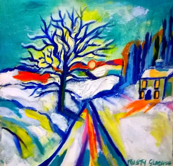 Painting - La Neige by Rusty Gladdish