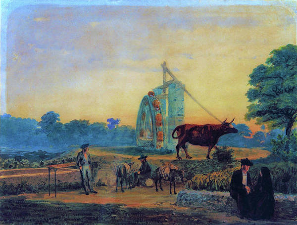 Wall Art - Painting - La Noria, Spain - Digital Remastered Edition by Prilidiano Pueyrredon
