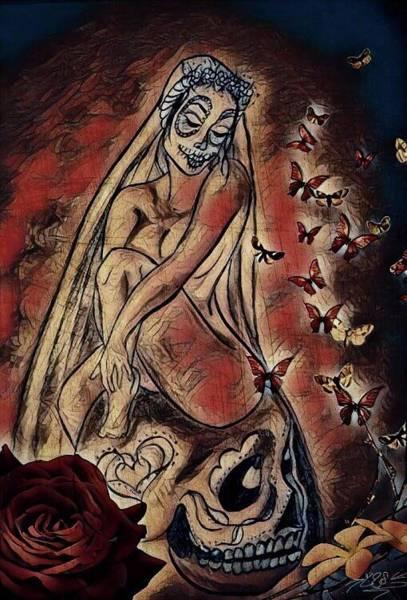 Wall Art - Mixed Media - La Novia by Lizette Sanchez