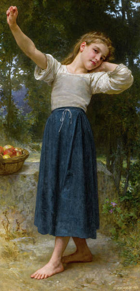 Wall Art - Painting - La Paresseuse by William-Adolphe Bouguereau