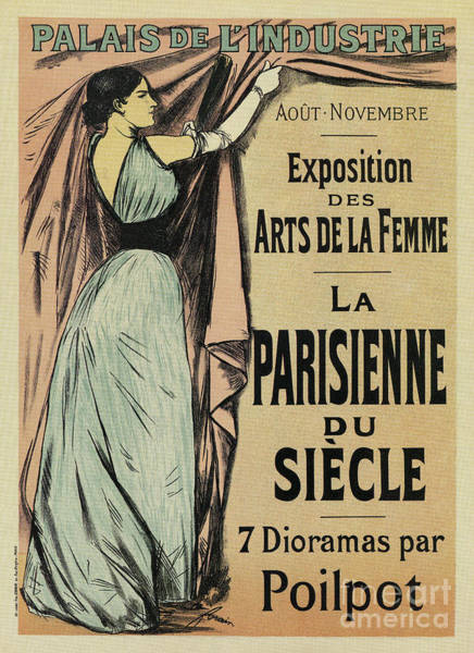 Drawing - La Parisienne 1892 Women's Art by Aapshop