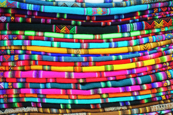 Wall Art - Photograph - La Paz, Bolivia Textiles For Sale by Anthony Asael