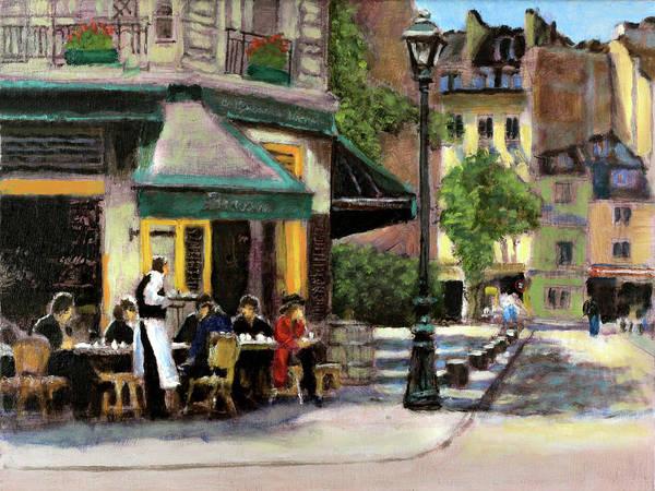 Dining Al Fresco Painting - La Petite Brasserie by David Zimmerman