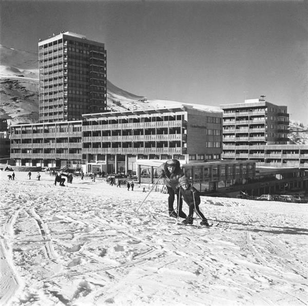 Wall Art - Photograph - La Plagne, Winter Sports Resort 1967 by Keystone-france
