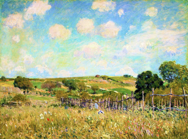 Wall Art - Painting - La Prairie - Digital Remastered Edition by Alfred Sisley