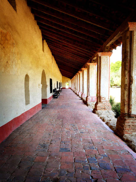 Mission Santa Barbara Photograph - La Purisima Mission Colonade by Glenn McCarthy Art and Photography