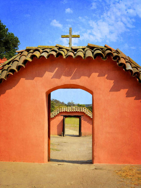 Mission Santa Barbara Photograph - La Purisima Mission - Two Crosses by Glenn McCarthy Art and Photography