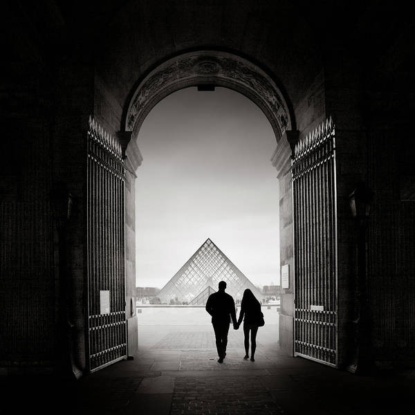 Wall Art - Photograph - La Pyramide Du Louvre, Paris, France, 2013 by Ronnie Behnert