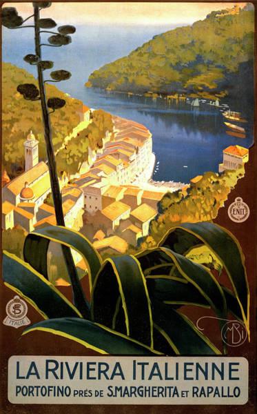 La Riviera Italienne Poster Art Print