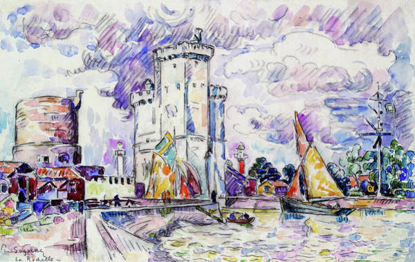Neo-impressionism Wall Art - Painting - The Rochelle - Digital Remastered Edition by Paul Signac