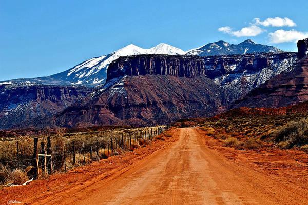 Desert Landscape Mixed Media - La Sal Mountains 0089 by G Berry