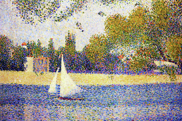 Wall Art - Painting - la senna alla grande-jatte - Digital Remastered Edition by Georges Seurat