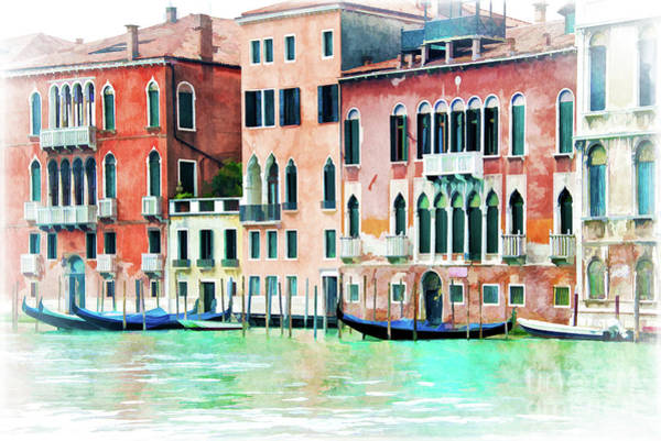 Wall Art - Painting - La Serenissima by Delphimages Photo Creations
