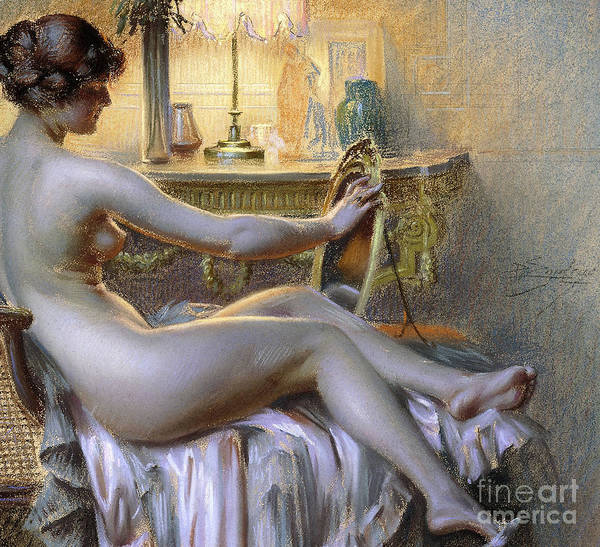 Wall Art - Pastel - La Toilette by Delphin Enjolras