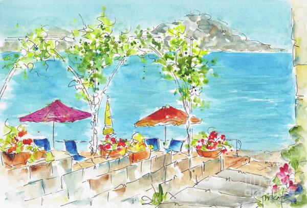 Painting - La Tonnarella Private Beach Sorrento Italy by Pat Katz