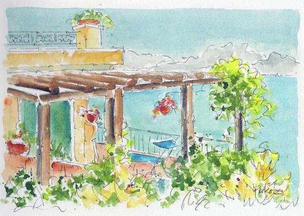 Painting - La Tonnarella Terrazza Sorrento Italy by Pat Katz