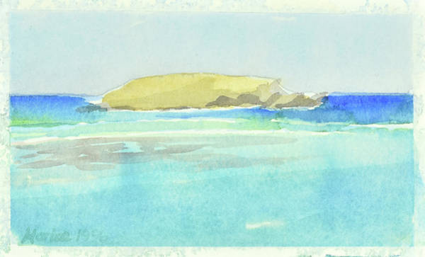 Painting - La Tortue, St Barthelemy, 1996_4179, 122x74 Cm, 6,86 Mb by Marica Ohlsson