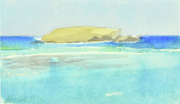 Painting - La Tortue, St Barthelemy, 1996_4179 Clean Cropped, 102x58 Cm, 6,86 Mb by Marica Ohlsson